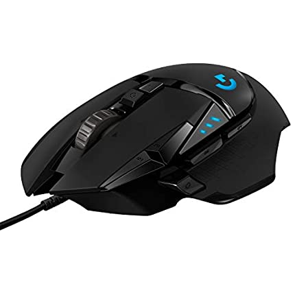 Logitech G502 HERO Ratón Gaming con Cable Alto Rendimiento, Captor HERO 25K, 25,600 DPI, RGB, Peso Personalizable, 11 Botones Programables, Memoria Integrada, PC/Mac - Negro