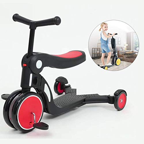 Review SJYDQ ZCHAN Kids Scooter, 5 in 1 Wheels Kick Scooters for Kids with Removeable Comfortable Se...