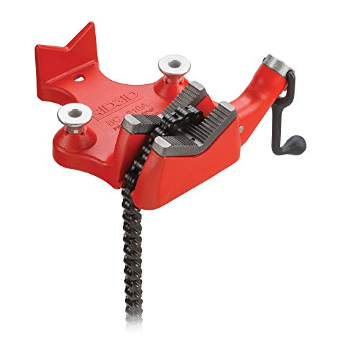 RIDGID 40215 Model BC810 Top Screw Bench Chain Vise, 1/2-inch to 8-inch Bench Vise