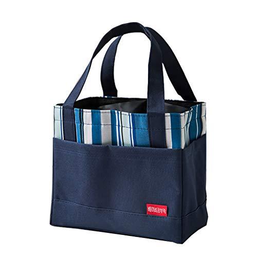 Sac isotherme Sac à lunch bag Sac à main Isolation toile imperméable riz riz Sac à lunch 6 couleurs 21.5 * 13.5 * 20cm (Couleur : C)