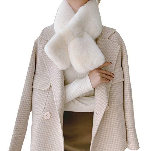 Envoltura de Cuello Esponjoso Bufanda de Peluche Mujeres Invierno Espesado Cuello de Cruz Collar Todo-Partido Bufanda de Peluche Invierno Cuello Largo Cuello Cuello clásico
