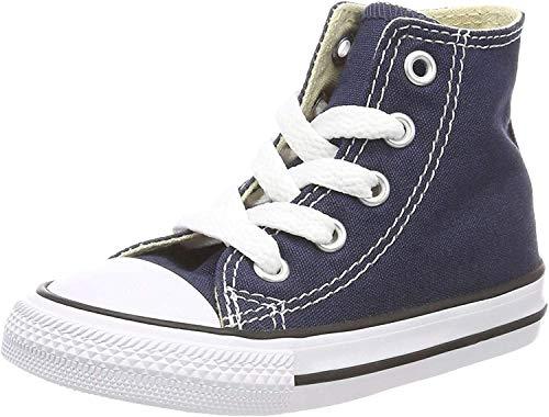Converse - Youths Chuck Taylor All Star Hi - Sneakers Basses - Mixte Enfant - Bleu Marine - 32 EU