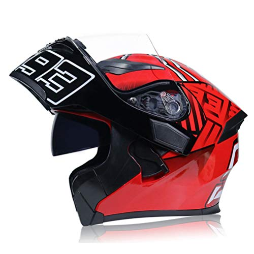 DOT Zertifizierung Flip Up Motorradhelm Doppelvisier Motorrad Roller Integral Fahrradhelm