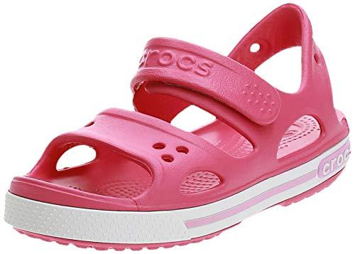 Crocs Crocband Ii Sandal Ps K, Unisex-Kinder Sandalen, Pink (Paradise Pink/carnation), 22-23 EU (6 UK)