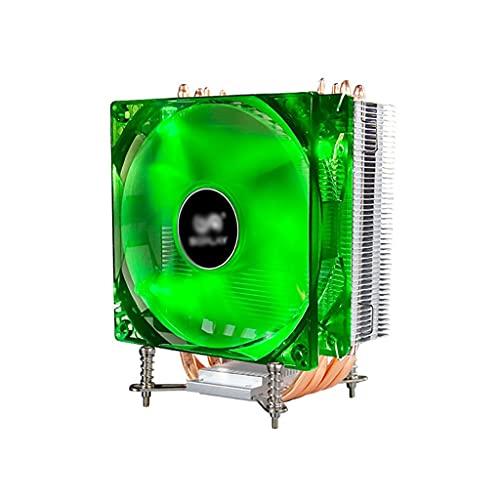 LLRZ Centilador CPU Refrigerador de Aire CPU con 4 Tubos de Calor 120 mm PWM Solution Universal Solter Solution CPU Cooler con Ventilador Verde LED Sistema Refrigeración