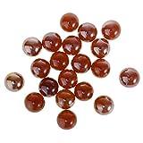 B Blesiya 20 Unids 16mm Juguete de Marmoles de Vidrio Colorido Decoración de Florero Planta Hidropónica - Rojo
