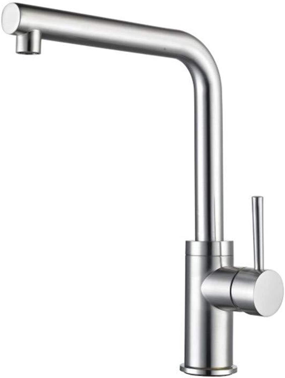 Oudan 304 Stainless Steel Wire Drawing Cold Kitchen Faucet Lavatory (color   -, Size   -)