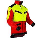 Pfanner atmungsaktive Forstjacke ZipOff mit Cordura®, Farbe:gelb, Größe:S