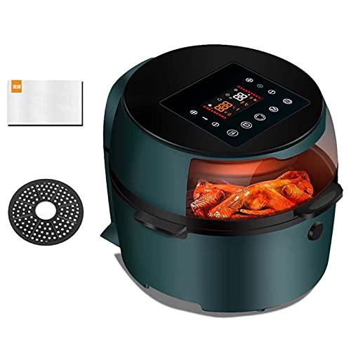 Freidora de aire digital de 8L, horno de aire caliente de 1500 W con pantalla LCD, control de temperatura, temporizador de 60 minutos, apagado automático, olla antiadherente, kit de accesorios,B