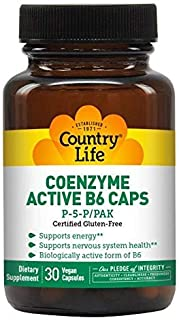 Country Life Coenzyme Active B-6 50 Mg, 30-Count