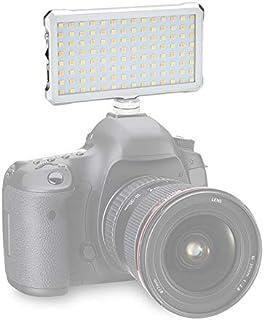إكسسوارات كاميرا LGYD F12 جيب 112 ليد 1080LUX تصوير فيديو واستديو صور احترافية مع شاشة أوليد لكاميرات كانون ونيكون دي اس ا...