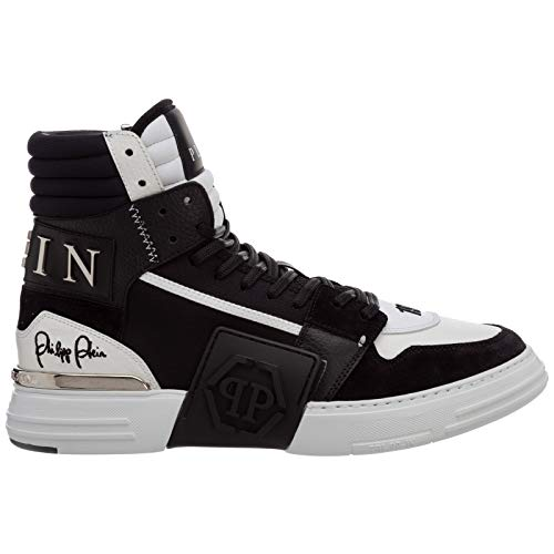 Philipp Plein Hombre Phantom Kick$ Zapatillas Altas Black/White 44 Eu