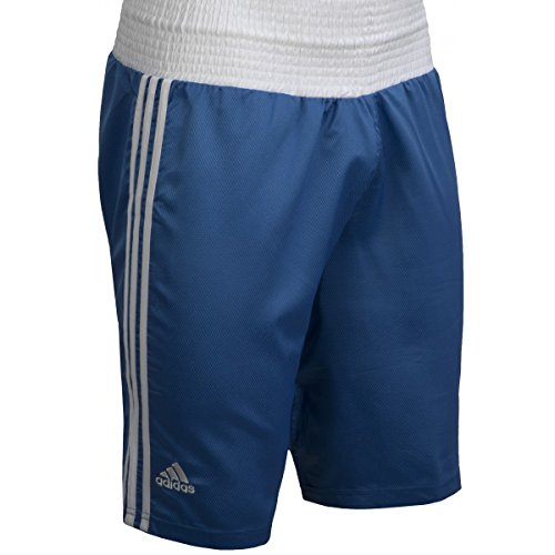 adidas Performance Boxing Trunks, Blue/White, Large