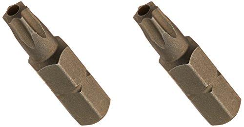 Wiha 70156 Tamper Resistant Torx Bit, Insert Bit Packs, T25s x 25mm, 2 Pack