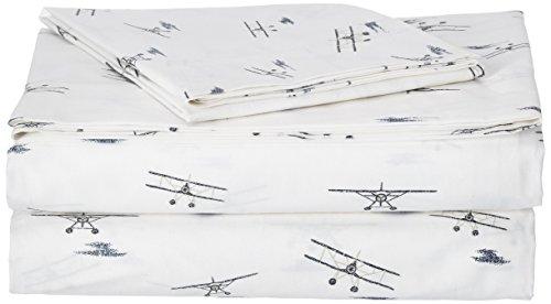 Eddie Bauer - Juego de sábanas de percal 100% algodón de Alta Calidad, 3 Piezas, Fresco, Fresco, Ligero y fácil de Limpiar, Lavable a máquina, Doble