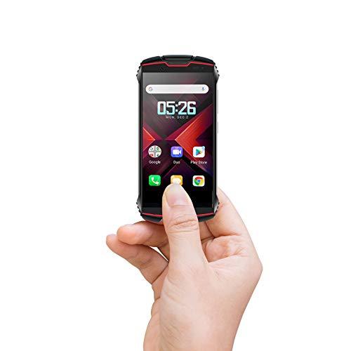 Cubot Kingkong Mini 2 Outdoor Smartphone ohne Vertrag, 4 Zoll Display Dual SIM Handy Wasserdicht, Stoßfest und Staubdicht, 3GB+32GB, Android 10.0, GPS+Kompass(Schwarz+Rot)