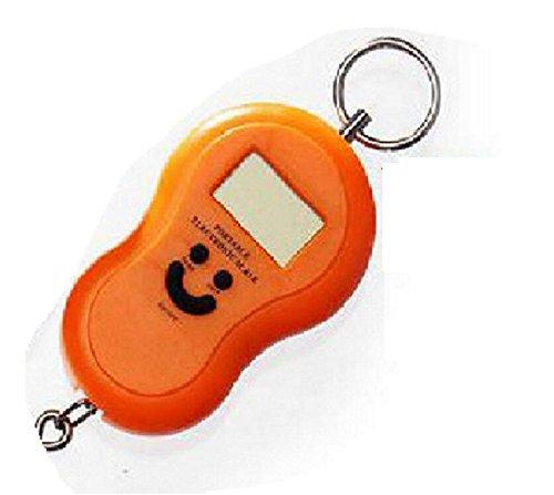 PDHU Tragbare Mini-Digitalwaage zum Hängen von Gepäck, Angeln, Orange, 50 kg