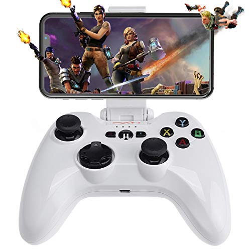iOS Wireless Mobile Game Controller, Megadream Gampad Joystick Support for iPhone Xs, XR X, 8 Plus, 8, 7 Plus, 7 6S 6 5S 5, iPad, iPad Pro Air Mini, Apple TV - Direct Play [MFi Certified]