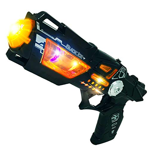Product Image of the Cool Kids Toys Guns for Boys,Girls Revolver Pistol Lights Sounds Cyber Steampunk...