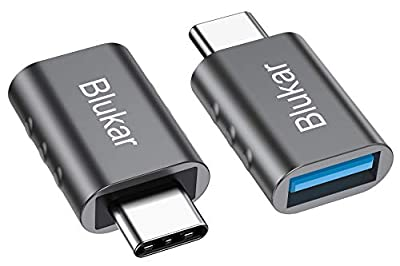 Blukar USB C to USB Adapter, [2-Pack] USB Type C to USB 3.0 Adapter, Thunderbolt 3 to USB Female OTG Adapter for MacBook Pro 2019/2018/2017, Galaxy S10/S9, MacBook Air 2018 and More Type-C Devices