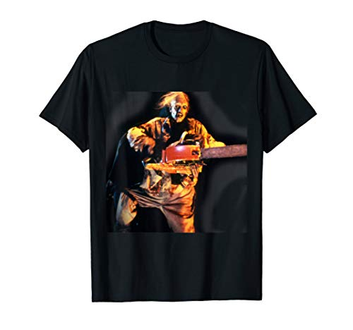 Evil Zombie with Chainsaw T-Shirt