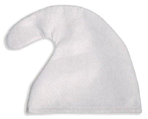 Unbekannt 1 x Zwergenmütze Mütze weiß Zwerg für Kopfumfang von ca. 57 cm Fasching Karneval fürs Kostüm Schlumpf Kinder Erwachsene Gruppe