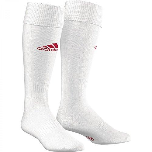 Adidas Milano Fußball Herren Socken,Weiß / Rot, Gr. 41-43 (Herstellergröße: 3)