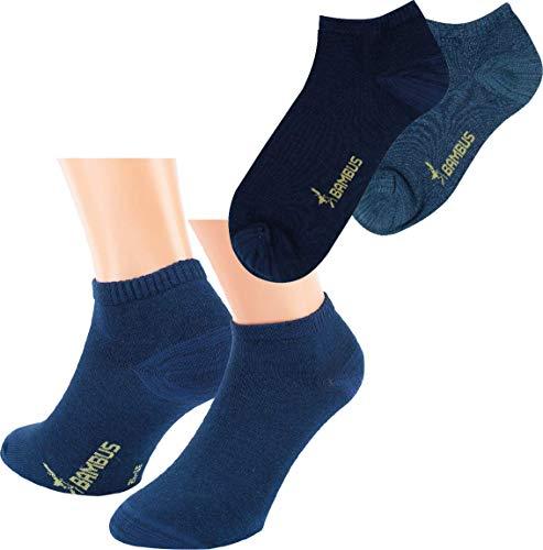 by Riese 9 Paar Bambus Sneaker Socken Bambussocken Sneakersocken für Damen, Herren, Kinder Blautöre (43/46)