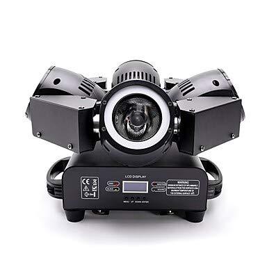 YICIX LED Bühnenlicht/Spotlight 18/72 CH DMX 512 / Master-Slave/Soundaktiviert 200 W für Party/Bühne/Hochzeit