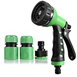 High pressure water gun is an ideal for car vehicle cleaning, vehicle wash, gardening spray The 8-Pattern Revolver aids in any outdoor function involving water. This 8 patterns include: Fan, cone, center, jet, mist, soaker, flat, angle, and shower. T...