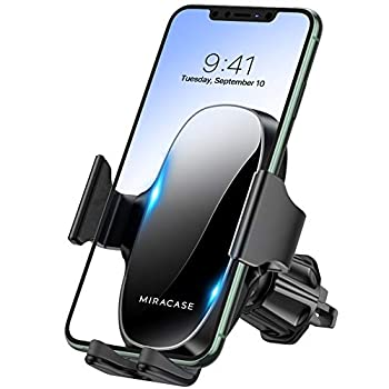 【2021 Upgraded】 Miracase Car Phone Mount Air Vent Cell Phone Holder for Car Universal Car Phone Holder Cradle Compatible with iPhone 12 Pro Max/12/11 /11 Pro Max/XR/Xs/8/7,S10+ and More