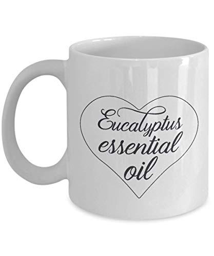 Eucalyptus etherische olie witte koffiemok (wit) - perfect cadeau voor gezondheids- en wellnessliefhebbers