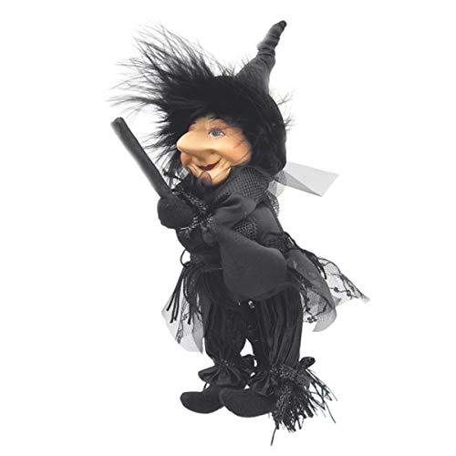 Hexen von Pendle-Emily Hexe Flying (schwarz) 20cm