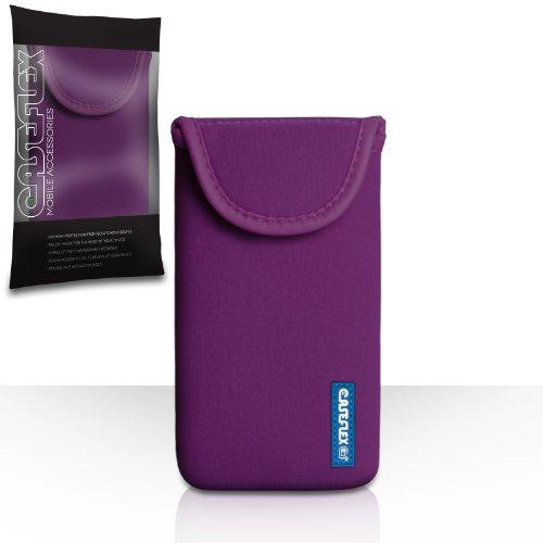 Caseflex BlackBerry Z30 Tasche Violett Neoprene Beutel Hülle Kompatibel Für Logo