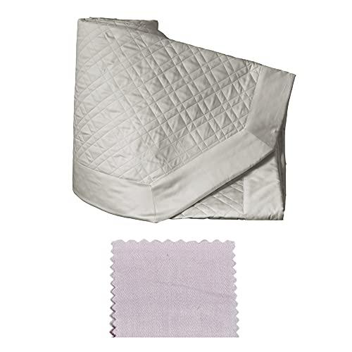 RICAMI FIORENTINI BALDI Colcha acolchada con volantes para primavera/verano de raso de algodón 100% satinado. Producto artesanal Toscano. (Una plaza y media italiana, 210 x 260 cm, incienso)