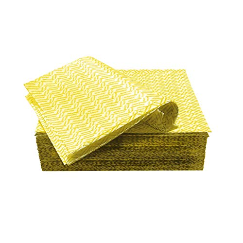 JEBBLAS Cleaning Towels Dish Towels and Dish Cloths Reusable Towels,Handy Cleaning Wipes, Great Dish Towel, Disposable, Absorbent, Dry Quickly 60 Sheets/Pack,Yellow
