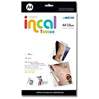 Temporary Tattoos 10Sets (5 A4 Laser decal paper + 5 A4 Adhesive film) 。レ made in Korea