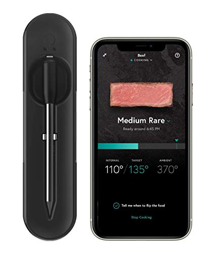 Yummly YTE000W5KB Premium Wireless Smart Meat Thermometer with Long Range Bluetooth Connectivity and...