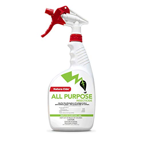 Nature-Cide All Purpose Insecticide. All Natural Roach Killer, Spider, Mosquito and Ant Spray to Keep Your Home Safe. Kills on Contact. No Strong Odor. 32 oz