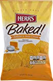 Herr's Baked Potato Crisps- Available in Four Delicious Varieties (Cheddar & Sour Cream, 4 Bags)