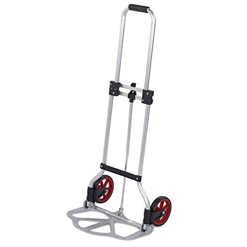 Carretilla de transporte plegable, capacidad de carga de 45 kg