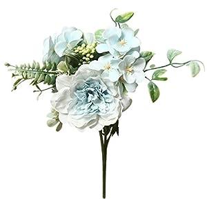 Musommer Artificial Flowers Fake Peony Silk Hydrangea Bouquet Decor Plastic Carnations Flower Wedding Decoration