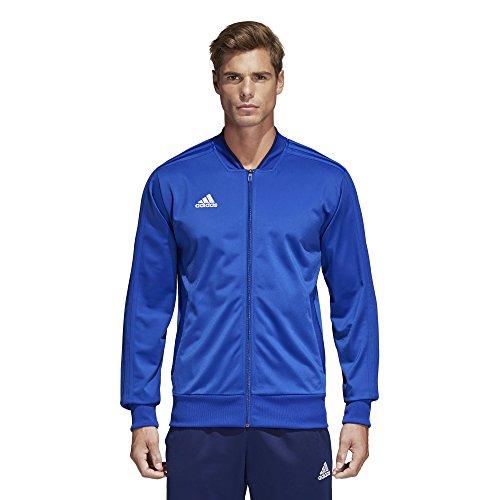 adidas Herren Condivo 18 Polyester-Jacke, Herren, Jacke, Condivo18 Polyester Jacket, Bold Blue/Dark Blue/White, Large