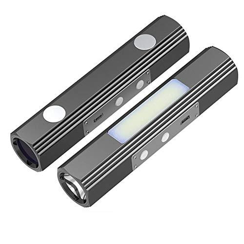 WXJWPZ Linterna Recargable Multifuncional T6 LED Linterna antorcha de 365nm UV Super Brillante COB acampa Impermeable de la lámpara del USB del diseño del imán