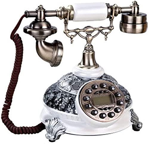 TAIDENG Teléfono Antiguo Teléfono Estilo Europeo Decoración Retro Teléfono Vintage Estilo Antiguo Identificación de Llamada Manos Sin Manos Rena Decoración de Hogar Teléfono