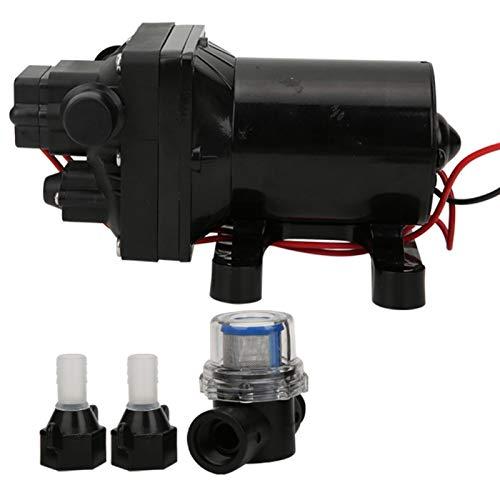 Cosiki Bomba de diafragma de 12 V, Bomba de diafragma de yate de Motor de Alta presión, plásticos de ingeniería para máquinas expendedoras, Carro de estación de yate de Agua
