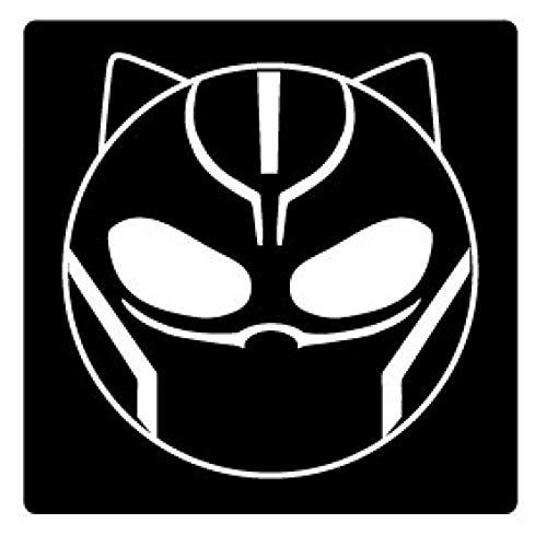 1art1 Black Panther - Emoticon Poster-Sticker Tattoo Aufkleber 9 x 9 cm