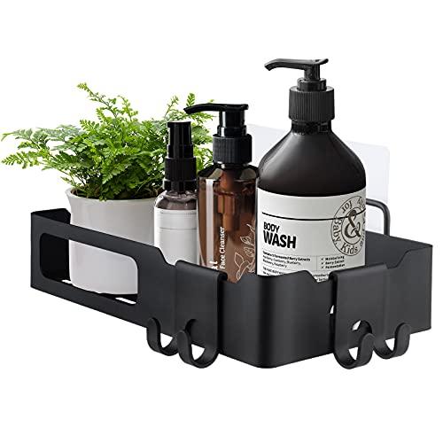 Estantería de Baño Blesiya, Repisa Baño Adhesiva , Estantería Ducha sin Taladros Autoadhesivo Aluminio, Acero Inoxidable Negro ⭐
