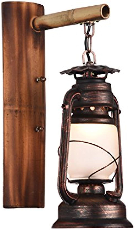 TZZ Retro Industrial Style Schmiedeeisen Wandleuchte Persnlichkeit Kreative Laterne Bar Loft Antiken Gang Balkon Wandleuchte E27 Lampe Kopf