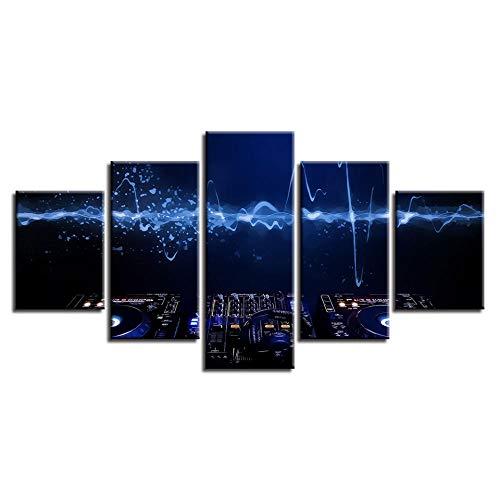 axqisqx 5-delige schilderij op canvas, muurschilderingen, kunst, ingelijst, decoratie voor thuis, mengtafel, DJ-frame
